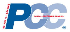 Gill's Printing affiliation P C C - National Postal Customer Council logo